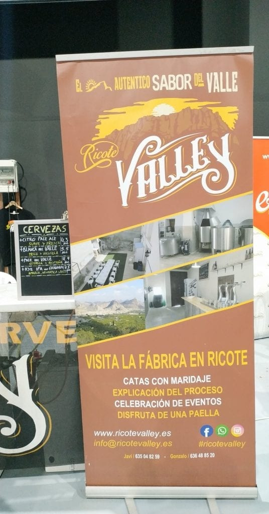 ricote valley cervezas stand