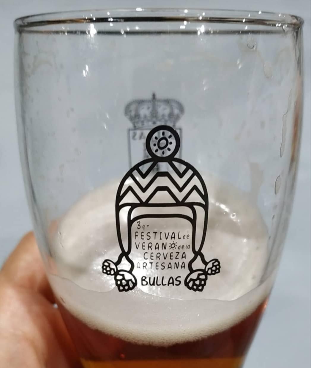 festival de la cerveza artesana Bullas vaso