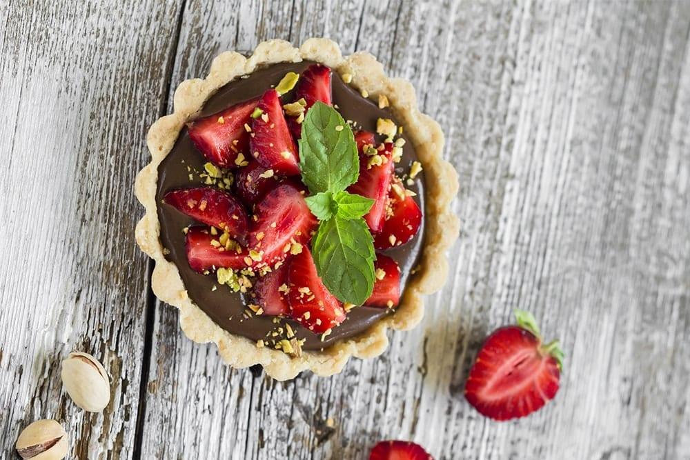 chocolate con fresas y pistachos recetas sin gluten