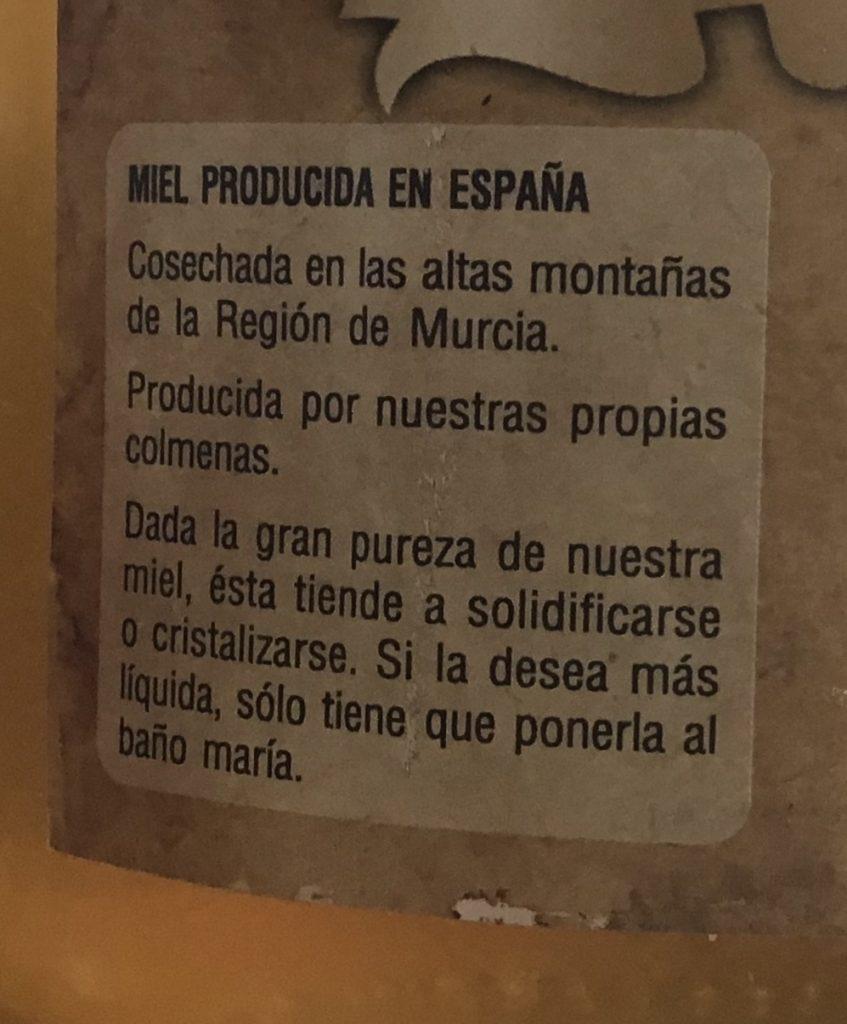 etiquetado miel