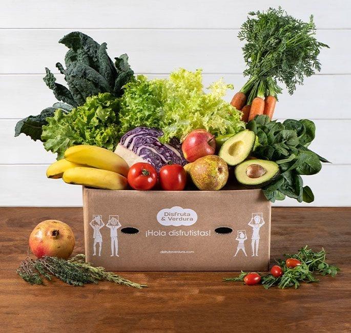 frutas y verduras caja