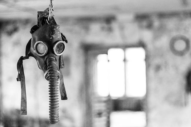 Máscara de gas en Chernobyl