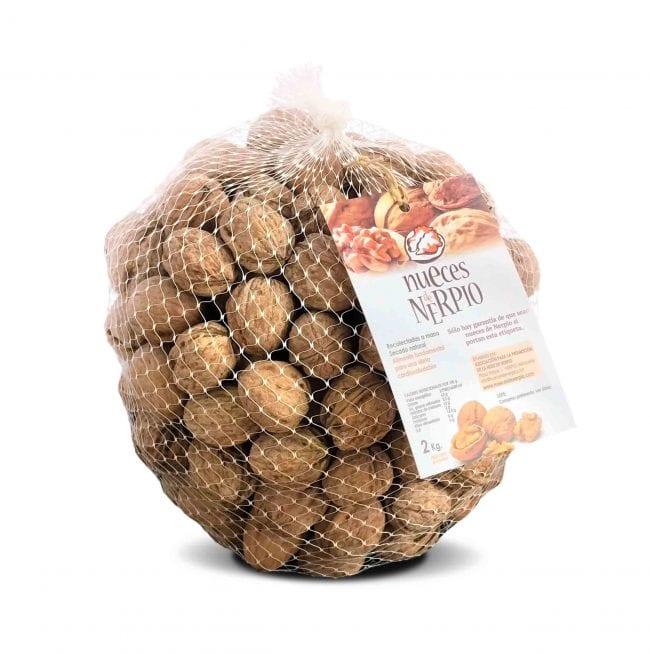Malla de dos kilos de nueces de Nerpio