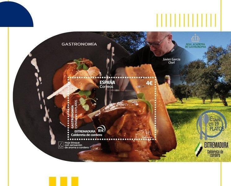 sellos de gastronomía en Correos