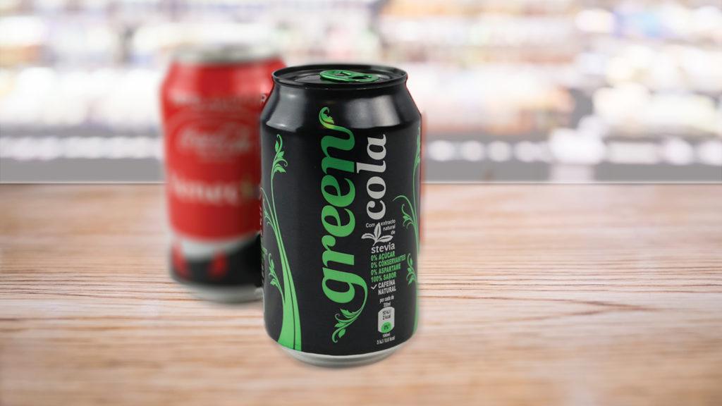 Green Cola junto a Coca-Cola Zero