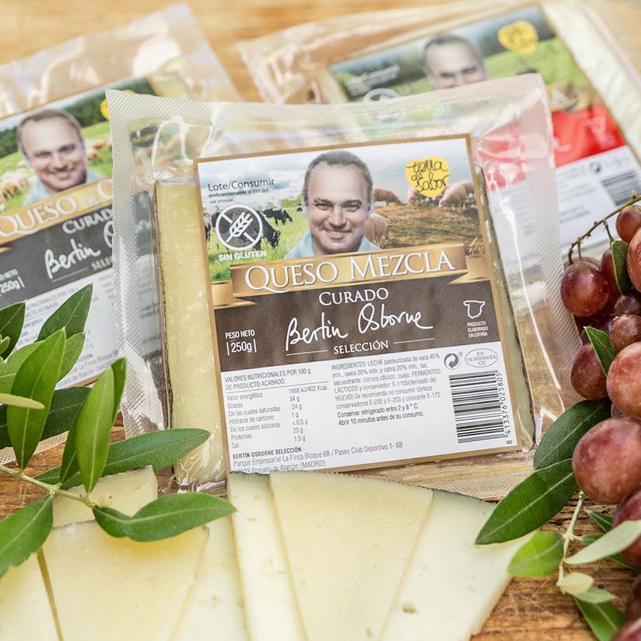 Quesos productos gastronómicos Bertín Osborne