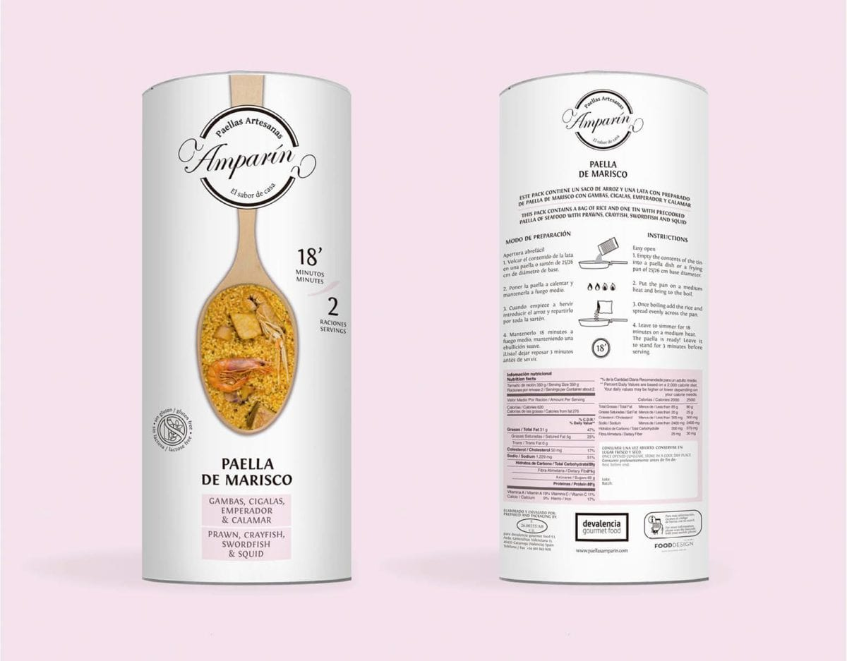Paella valenciana en lata