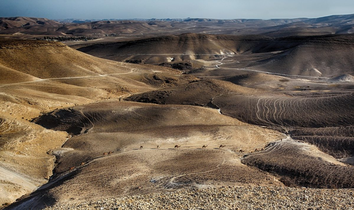 Desierto israelí junto al Mar Muerto
