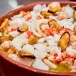 restaurante opazo prato de frutos do mar