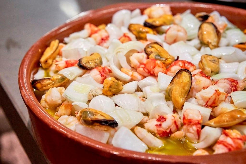 plato de marisco restaurante opazo