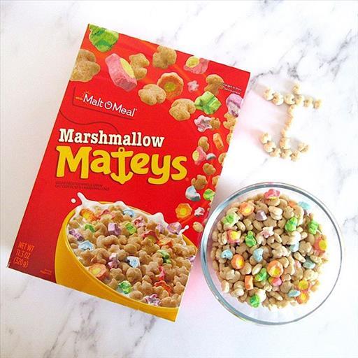 Marshmallow Mateys Cereales más raros