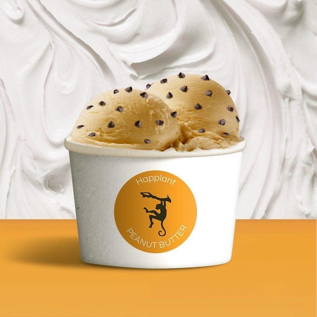 Sabor Peanut Butter de los helados veganos Happlant