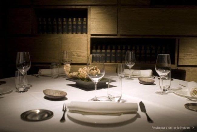 Mesa en restaurante opazo
