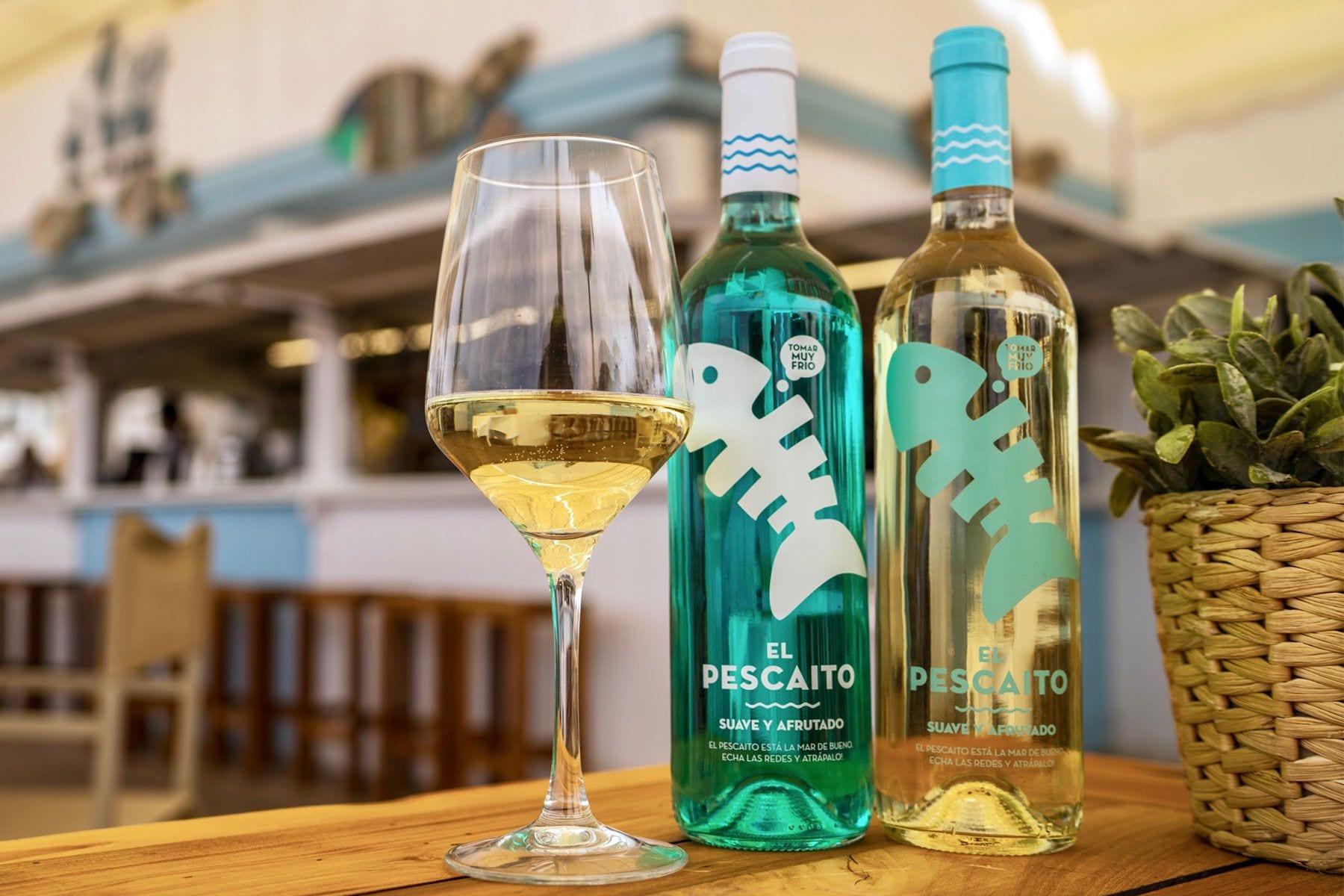 Botellas de vino El Pescaíto de Mercadona