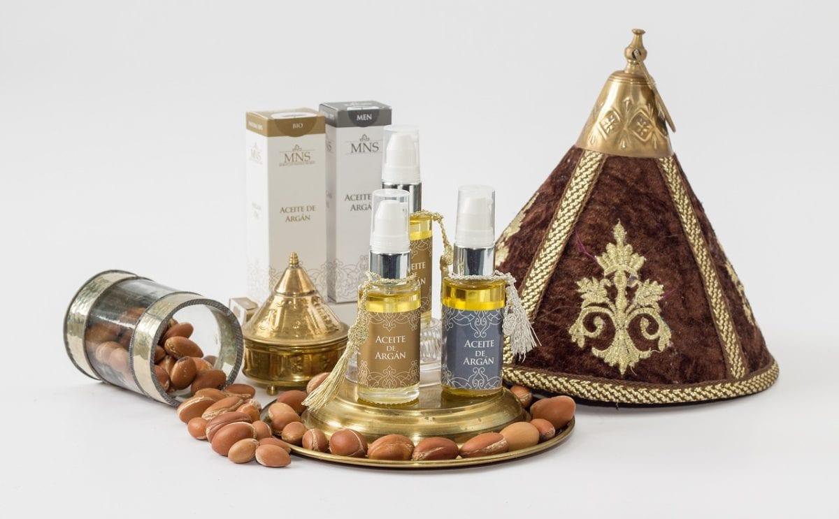 presentación del aceite de argán en la cocina