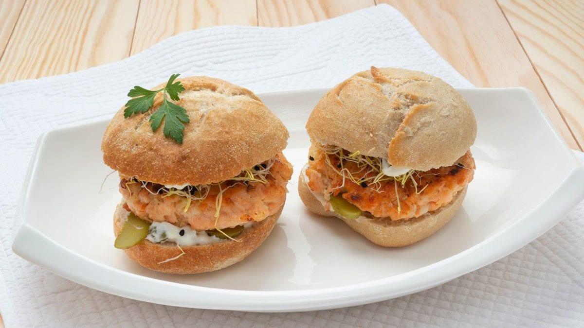 recetas de hamburguesas innovadoras de salmón
