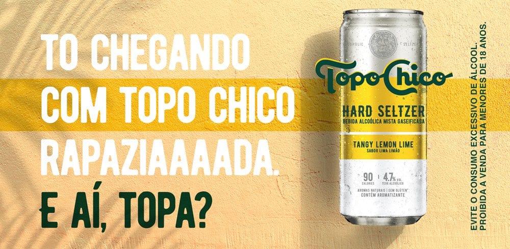 lata de Topo Chico en Brasil