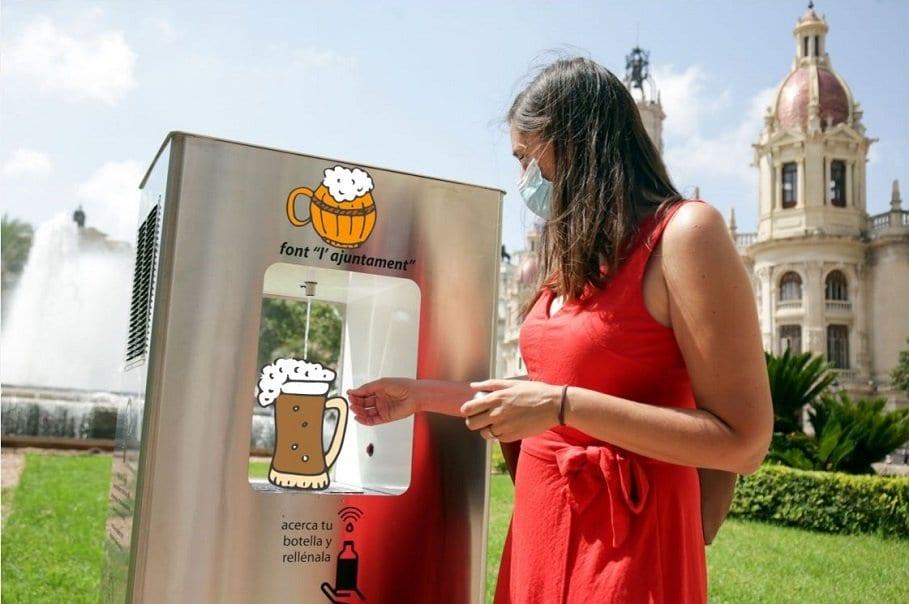 fuente pública de cerveza en Valencia