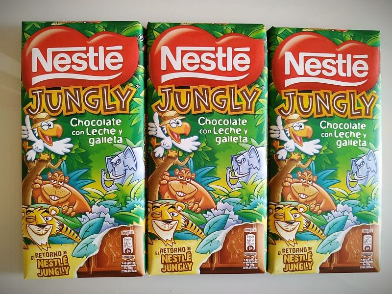 Tabletas de Nestlé chocolate