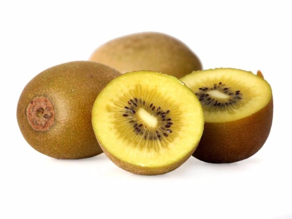 Kiwi amarillo y verde