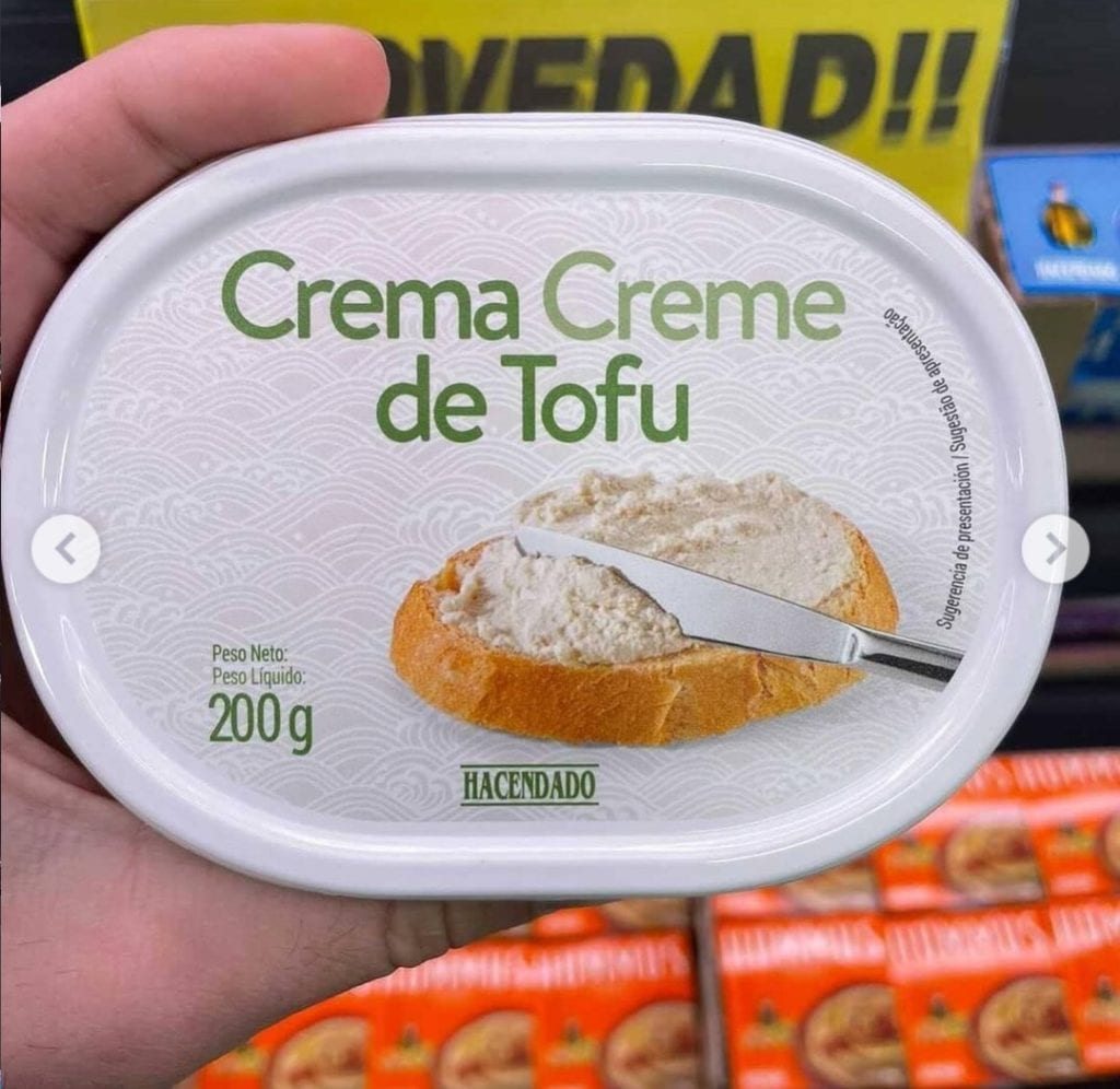 Crema de tofu de Mercadona