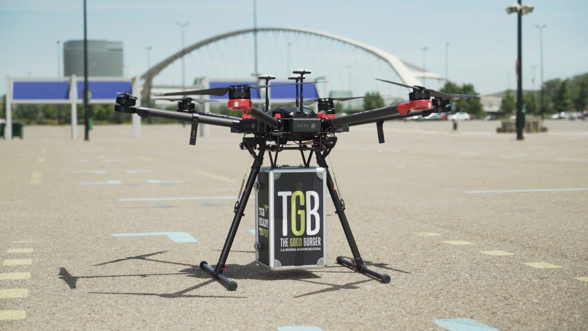 Drone de entrega em domicílio