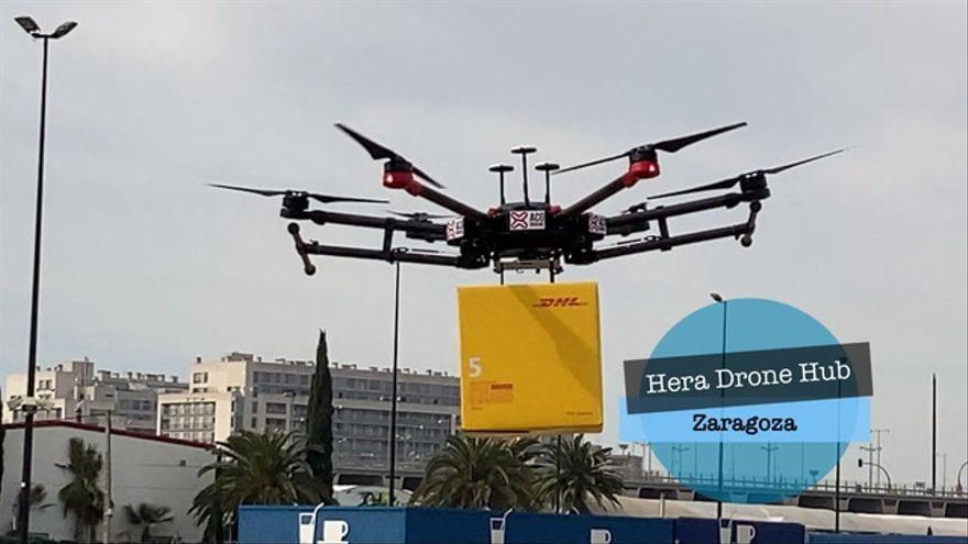 Dron de reparto a domicilio