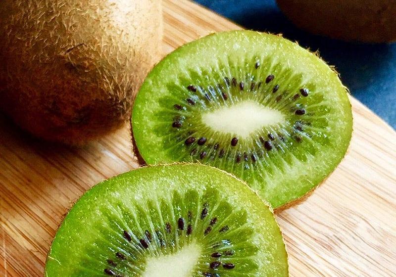 Having kiwi for breakfast