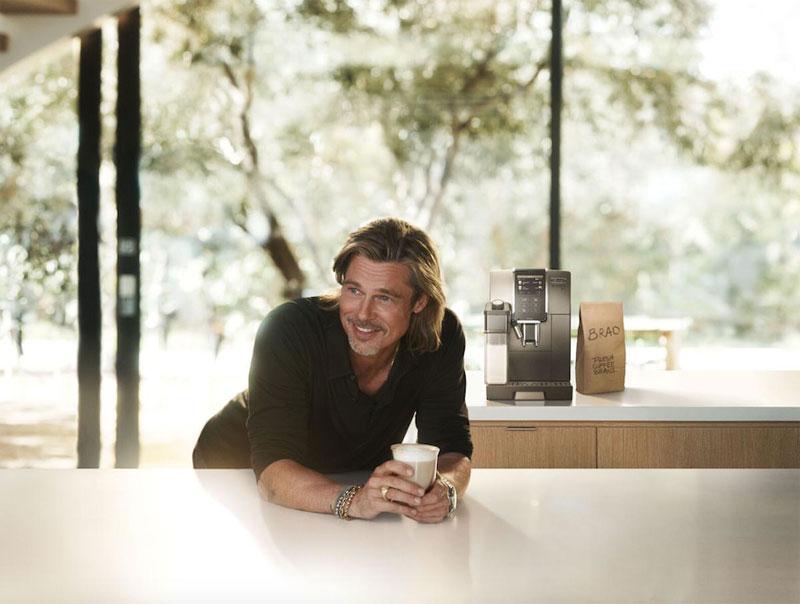 Brad Pitt anunciando De'Longhi