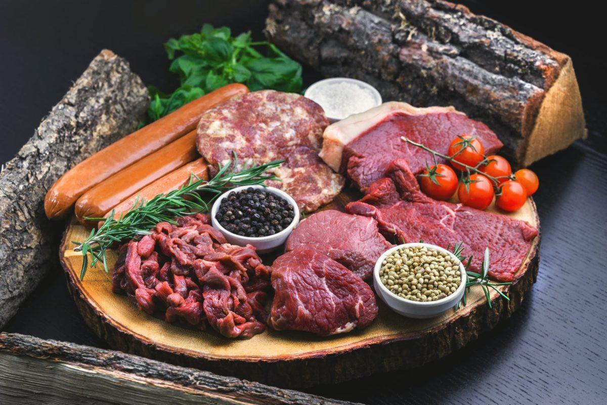 diferentes tipos de carne / carne poco hecha