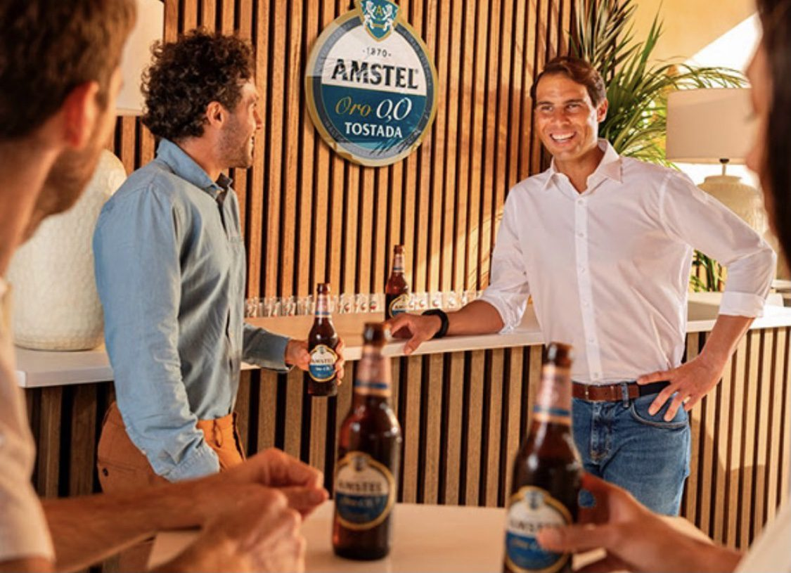 Rafa Nadal y Amstel